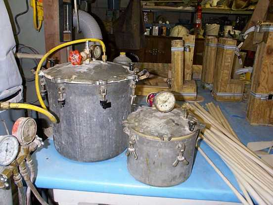 Typical homemade vacuum chamber for degassing silicones for poured molds!